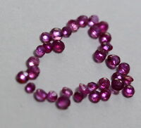 1.00 Ct Natural Ruby Loose Round Cut Gemstone 35 Pisses Lot Old Burma No Heat