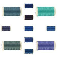 1 bobine de Fil à coudre 100 M Coats Duet Polyester 11 tons bleus à bleus foncés