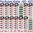 Piles boutons Alcaline Camelion 1,5V AG0 AG1 AG2 AG3 AG4 AG5 AG6 AG7 AG8 … AG13