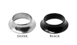 Aluminum SWOOPED Winding Checks - Black & Silver for Fly, Spin or Casting Rods