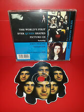 CD QUEEN - JOHN DEACON TALKS - INTERVIEW SHAPED PICTURE CD
