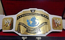WWE White Intercontinental Championship Title belt Replica with case 4mm plates