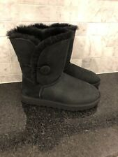 Women's UGG Bailey Button II Black Boots- Size 9-#1016226