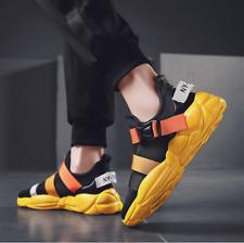 Men's Shoes Light Mesh Sports Flat Slip On  Breathable Ankle Elastic Buckle