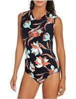 Seafolly Women's Cap-Sleeve Open-Back One Piece Swimsuit,, Black, Size 6.0 XFlC