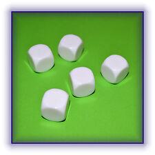 Würfel 5 Stück weiß blanko runde Kanten 16 mm basteln Neu