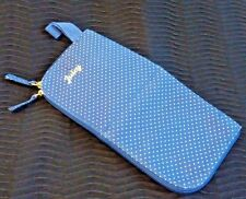 Juicy Couture Hair Hot Tool Case Polka Dots Blue White Polka Dot Zip Up Wristlet