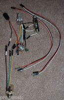 EMG Solderless EZ-INSTALL Wiring KIT 2 ACTIVE Pickups 1V 1T 3-Way STRAT BLACK **