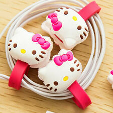 2 x Cable Wire Earphone Cord Organizer Protector Cartoon Animal Hello Kitty