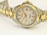 SEIKO LADIES SWD052 RETRO NON-WORKING SAMPLE PERPETUAL CALENDAR WATCH 4F32 0119
