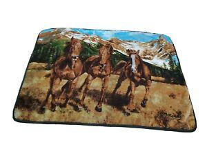 "The Northwest Company Wild Horses Mountains Print Fleece Throw Blanket 58""x49"""