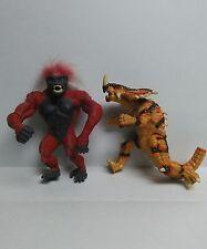 "Primal Rage Chaos Yeti Action Figure and Armadon Dinosaur 1994 Atari Games 5"""