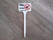 Kein Hundeklo Stecker fürs Blumenbeet - Warnschild  - Pflanzenbeet  AN61