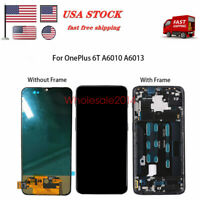 LCD Touch Screen Digitizer ±Frame Black For OnePlus 6T A6010 A6013 US