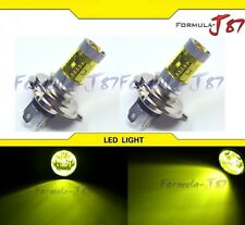 LED 30W 9003 HB2 H4 Yellow 3000K Two Bulbs Head Light Rally Off Road Show Use EO