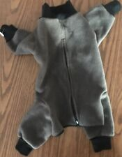 Grey Dog fleece Outside Wear MinSchnauzer Or Poodle Size