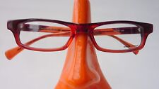 Narrow Plastic Glasses Frames Markenbrille Red Brown Size M