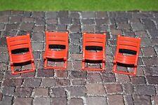 PLAYMOBIL Repuesto 4 Rojo Brillante Sillas Rojo CIRCO ROMANI 3728