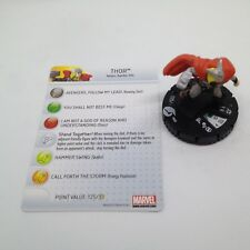 Heroclix Chaos War set Thor #002 Fast Forces figure w/card!