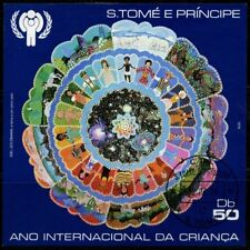 St. Tome Principe 1979 sheet Int.l Children's Year USED Sc  CV $30.00 180117063