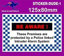BUSINESS OR HOME ALARM SYSTEM STICKER