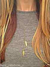 Golden Small Leaves Necklace Elegant Simple Romantic Long Chain Pendant Lovely