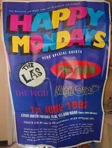 Happy Mondays Original Elland Road Leeds 1991 Poster