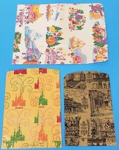 3 Vintage Disneyland Shopping Paper Bags Souvenir 1960s
