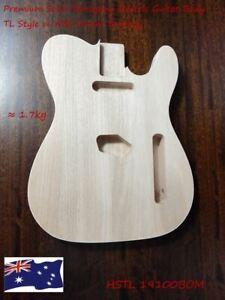 Haze Premium Solid Mahogany Electric Guitar Body, Pre-Polished HSTL19100BOM
