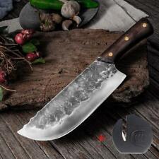 Hunters Serbian Chef Knife Steel Kitchen Knives Cleaver Forged Phenomenal Job XL