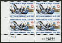 #3001 32c U.S. Naval Academy, Plt Blk [P22222 LL], Mint **ANY 4=FREE SHIPPING**