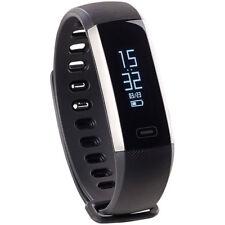 Pulsuhr: Fitness-Armband, Blutdruck- & Herzfrequenz-Anzeige, Bluetooth, IP67