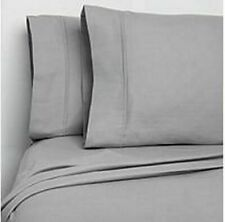 NEW Member's Mark 100% Cotton Flannel Sheet Queen Grey Design FREE SHIPPING
