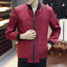 New Men Business Stand Collar Slim Jacket Windbreaker Coat Outwear Blazer Casual