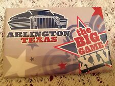 SUPER BOWL XLV MAGNET 2011 THE BIG GAME ARLINGTON TEXAS NFL FOOTBALL COLLECTIBLE