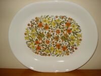 "Early Corning Corelle   Summer 12 1/4"" x 10"" Oval Serving Platter"