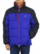Polo Ralph Lauren 2-Tone Puffer Down Jacket Coat -- Blue/Navy --