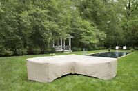 Patio Furniture Sectional Cover | Waterproof Outdoor Vinyl | L-Shaped | Gray