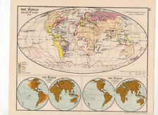 C1931 Antique Map Of The World In 1763  George Philip & Sons