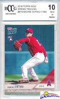 SHOHEI OHTANI 2018 Topps Now #ST-4 FIRST PRINTED TOPPS PITCHING RC BECKETT 10 MT