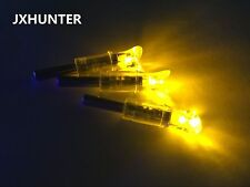 3PK yellow color half moon arrow nocks for carbon crossbow bolts with led light