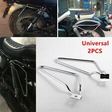 Motorycle Bikes Steel Saddle Pannier Bag Spacer Bracket Rack Support Bars Chrome