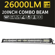 20inch CREE LED Light Bar Combo Work Driving Light 260W 260000LM 12V 24V 4WD