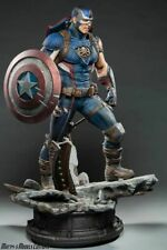 In Stock Private Custom Captain America 1/4 Scale Ploystone Statue