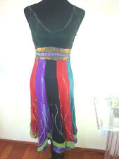 sexy Butterfly Dress In Multicolor NWT S retail 80$ made in nepal