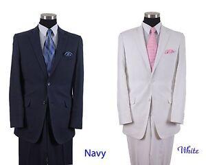 Milano Moda 85% Linen 15% CottonTwo Button Suit  Pleated Pants Double Vents L613