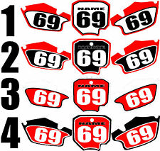 Number plates side panels graphic decals for 1996-2002 Honda CR80 CR 80