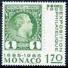 TIMBRE DE MONACO N° 1456 ** CENTENAIRE DU 1° TIMBRE N°1 DE 1885 / EXPOSITION