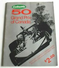 Canadian Formula 1 Grand Prix Race Program Mosport 1976 signed by John Watson