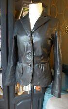 PINKO Veste blazer 100 % cuir noir T 38  PARFAIT ETAT